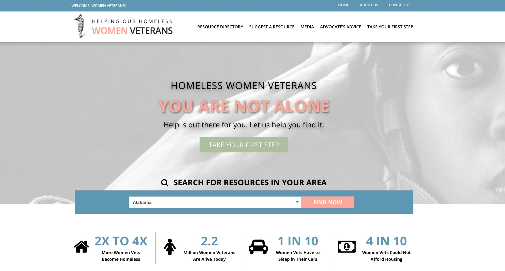 Homeless Women Veterans